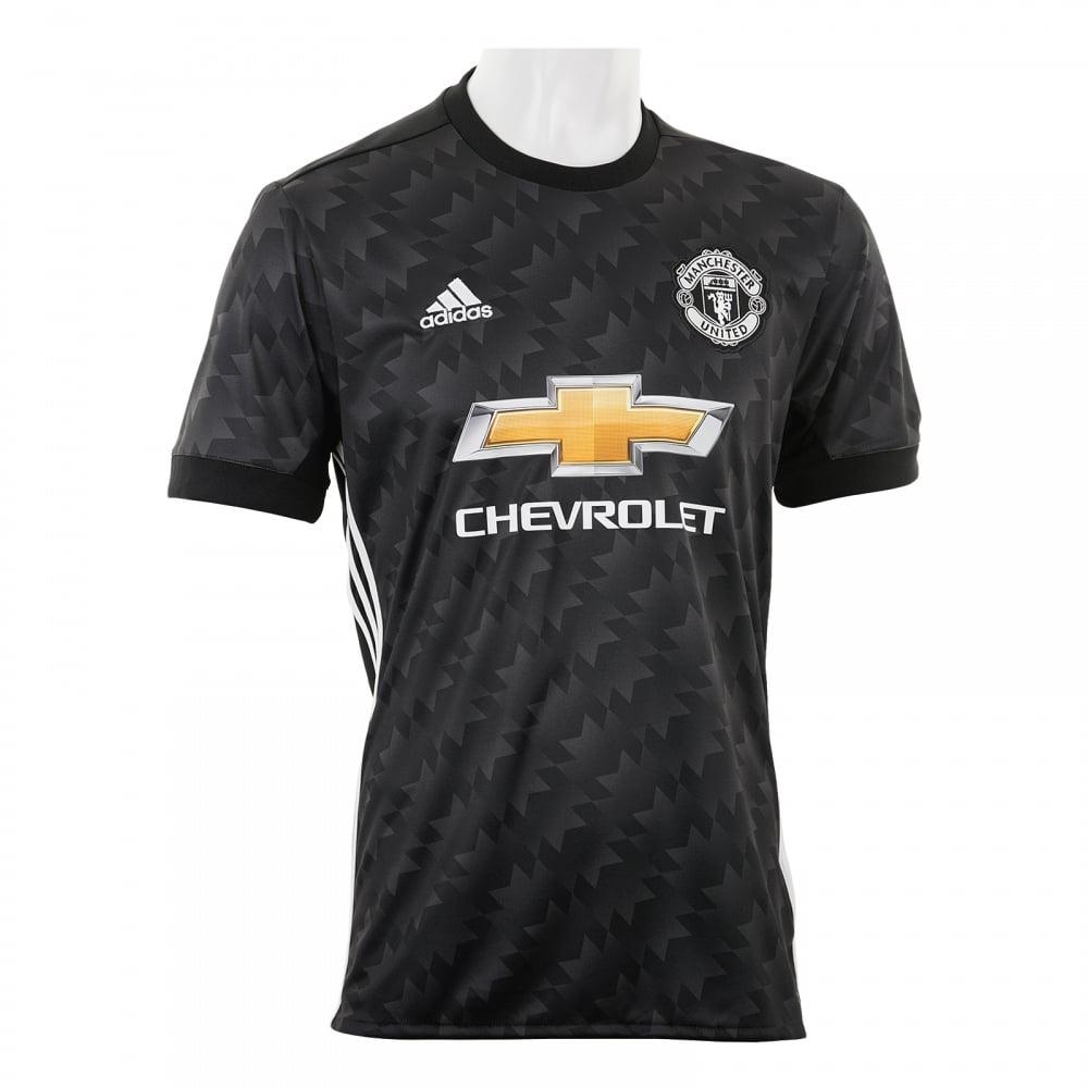 Adidas Performance Mens Manchester United 2017/2018 Away Shirt (Black)