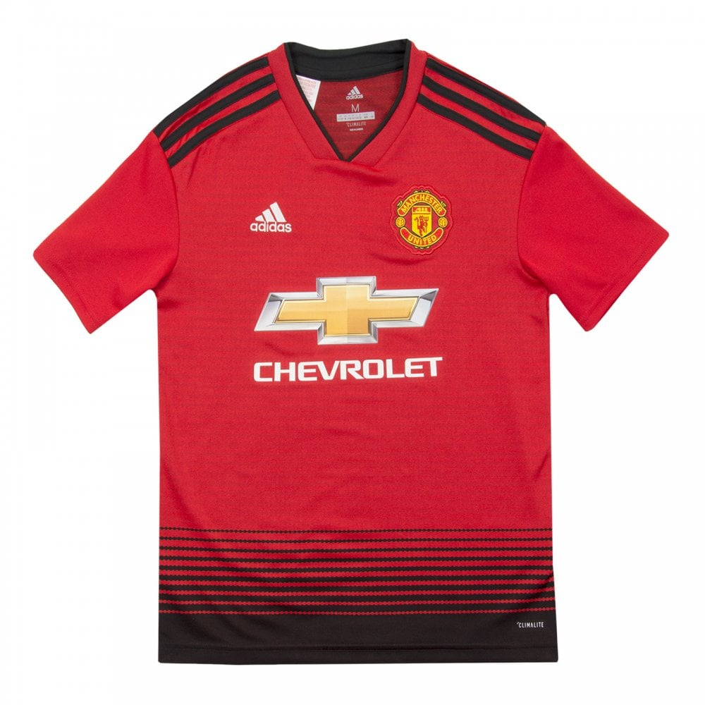 90dea4c2 ADIDAS Performance Mens Manchester United 2018/2019 Home Shirt (Red ...