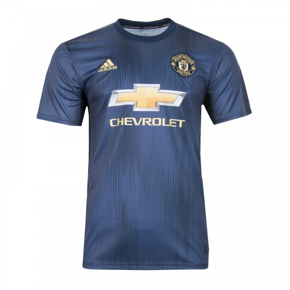 ca265c97fad ADIDAS Performance Mens Manchester United 2018 2019 Third Shirt (Navy)