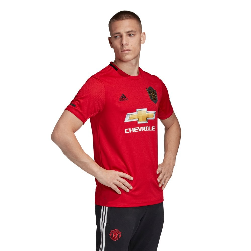 8a4bb46131e ADIDAS Performance Mens Manchester United 2019/2020 Home Shirt (Red ...