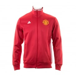 Adidas Performance Mens Manchester United 3-Stripe Track Top (Real Red/White)