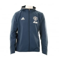 Adidas Performance Mens Manchester United 316 Presentation Jacket (Blue/Core Navy/White)