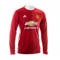 Adidas Performance Mens Manchester United Home Long Sleeve 16/17 Football Shirt (Red)