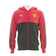 Adidas Performance Mens Manchester United Hoodie (Red)