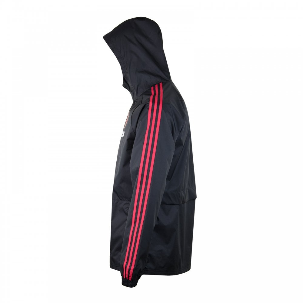 ADIDAS Performance Mens Manchester United Rain Jacket (Black) - Mens ... 3ad47da98