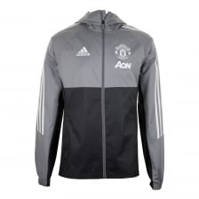 Adidas Performance Mens Manchester United Rain Jacket (Light Grey)