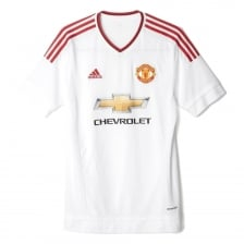 Adidas Performance Mens Manchester United Short Sleeved Away Shirt 2015/2016 (White/Red)