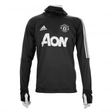Adidas Performance Mens Manchester United Warm-up Hoodie (Dark Grey)