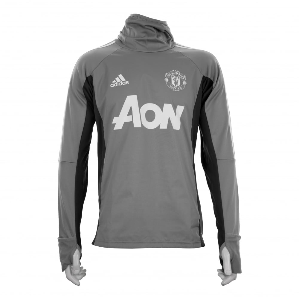 Adidas Performance Mens Manchester United Warm-up Hoodie (Grey)