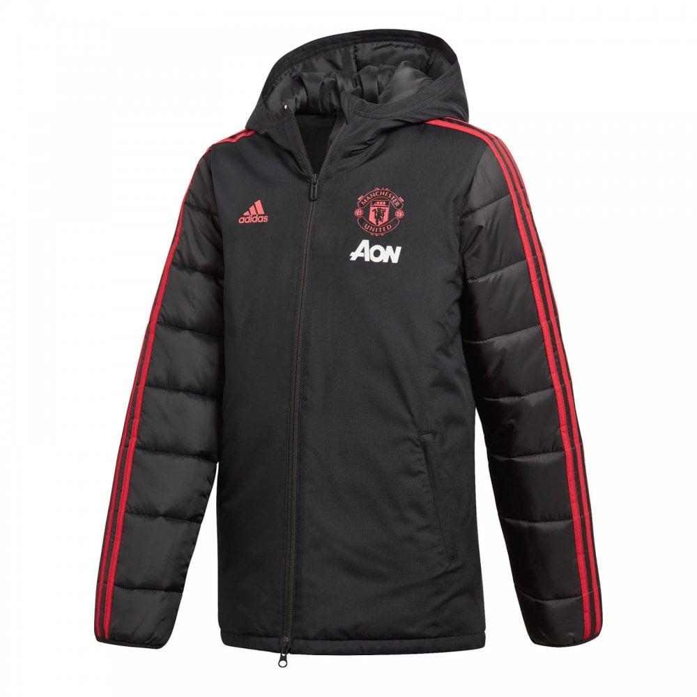 48444e53ad9 ADIDAS Performance Mens Manchester United Winter Jacket (Black ...