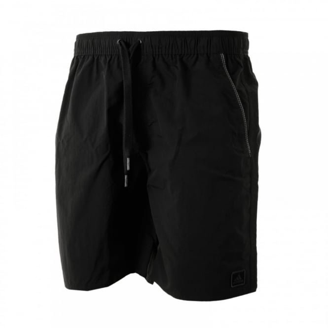 Adidas Performance Mens Solid 316 Swim Shorts (Black/Dark Grey)
