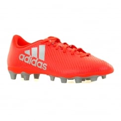 Adidas Performance Mens X Speed Of Light FG Football Boots (Solar Red/Silver/Red)