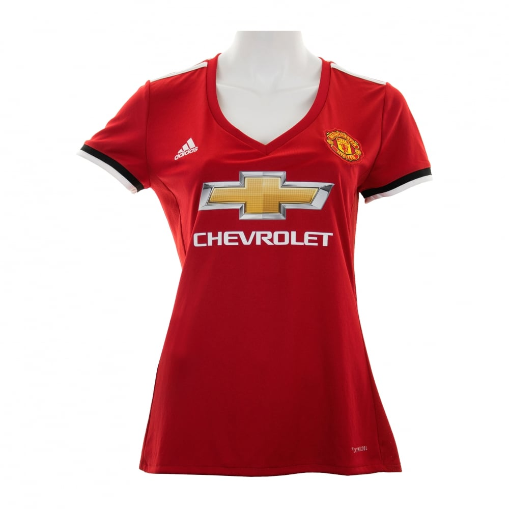 436254395f5 ADIDAS Performance Womens Manchester United 2017 2018 Home Shirt (Red)