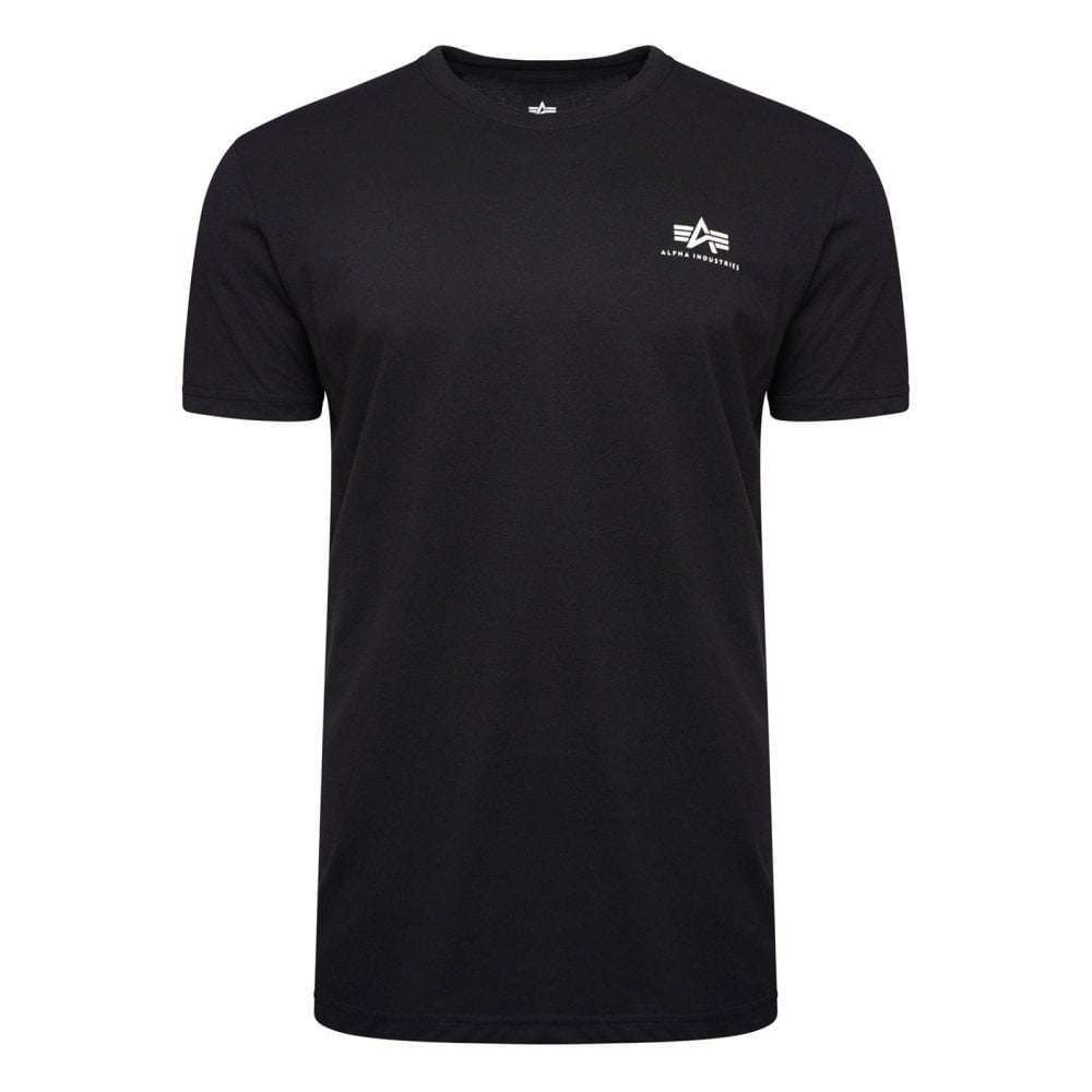 87953d365 Alpha Industries Mens Basic Small Logo T-Shirt (Black) - Mens from ...