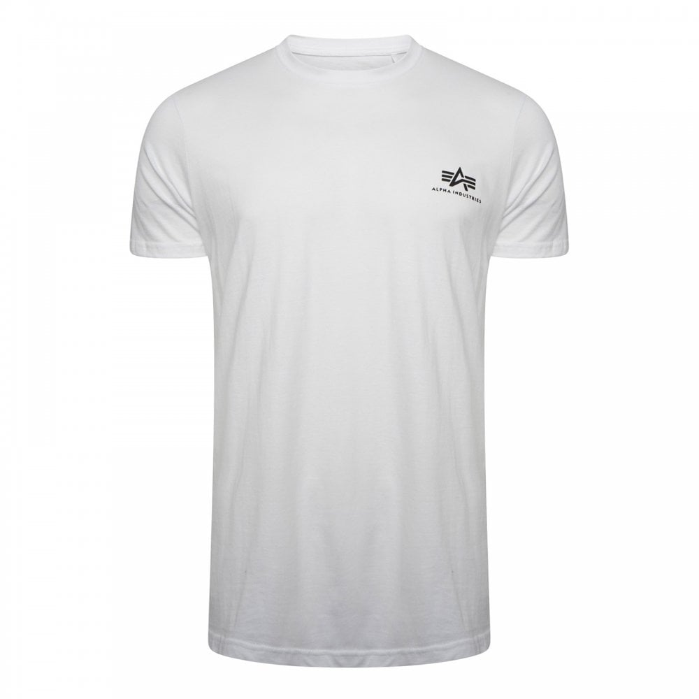 the best attitude 6cd61 6f170 Alpha Industries Alpha Industries Mens Basic Small Logo T-Shirt (White)