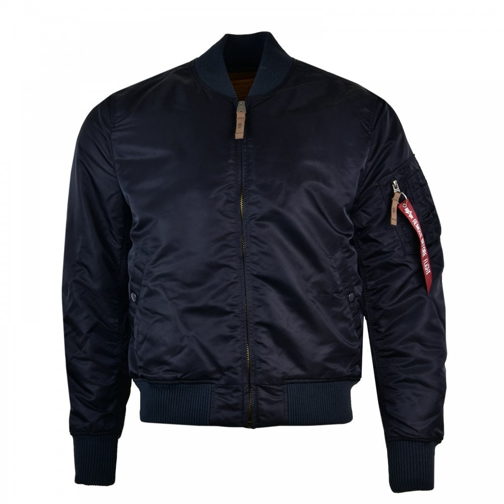 premium selection 29989 85321 Mens MA1 Bomber Jacket (Navy)