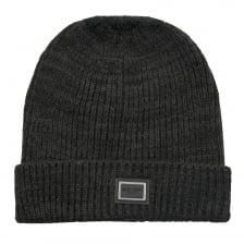 Antony Morato Knitted Fold Over Hat (Black)