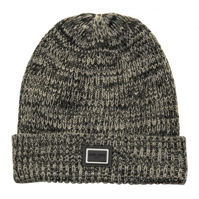 Antony Morato Knitted Fold Over Hat (Grey)