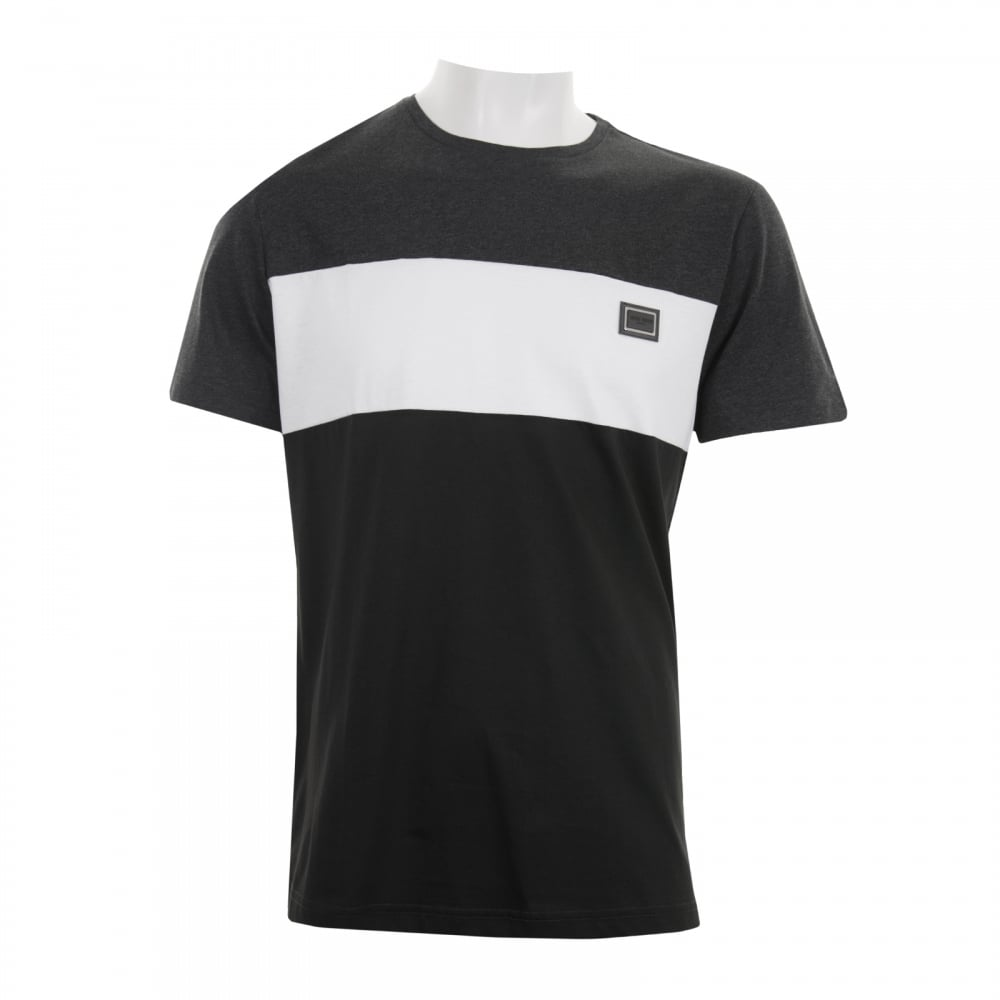 6375ebb4d81fa Antony Morato Mens Black Label Stripe T-Shirt (Dark Grey) - Mens ...