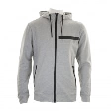 Antony Morato Mens Embossed Logo Hooded Sweat (Grey)