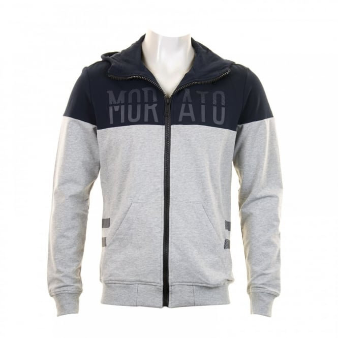 Antony Morato Mens Full Zip Logo Hooded Sweat (Navy)