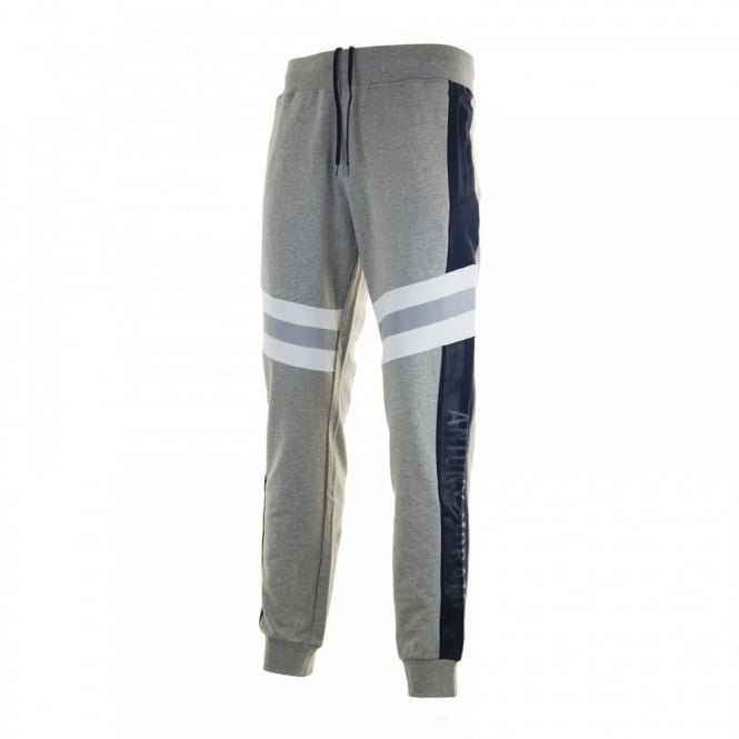 Antony Morato Mens Silver Badge Sweat Pants (Grey)