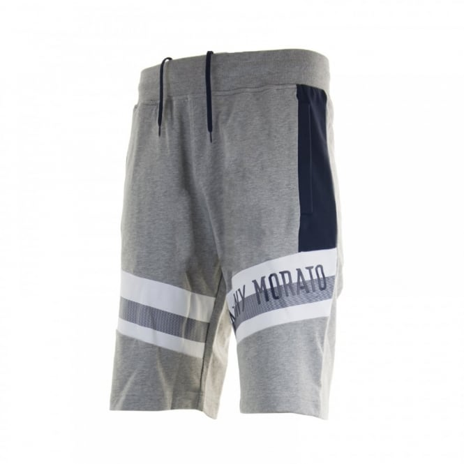 Antony Morato Mens Silver Badge Sweat Shorts (Grey)