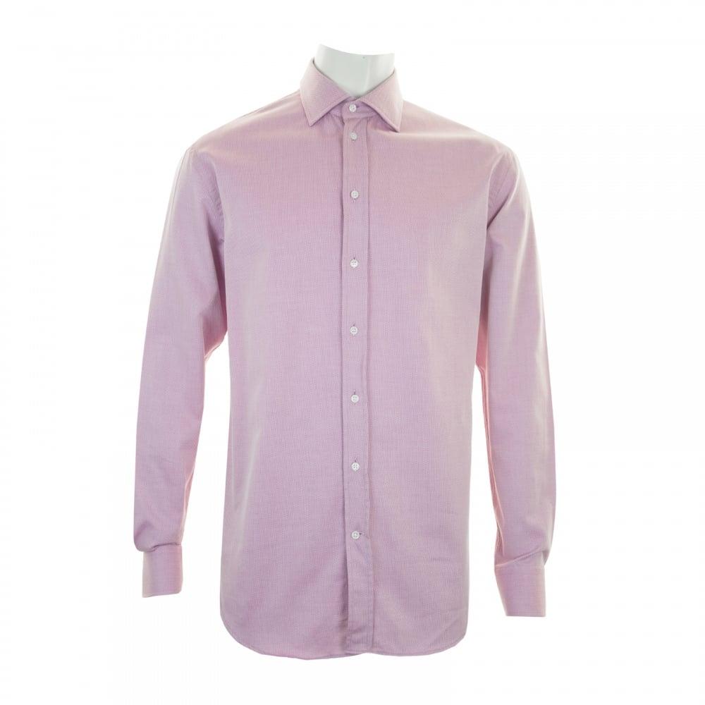 Armani collezioni mens long sleeve modern fit shirt pink for Mens pink long sleeve shirt