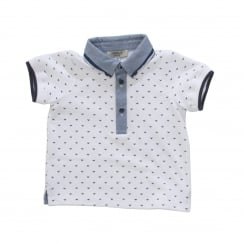 Armani Infants CDF04 Eagle Print Polo Shirt (White)