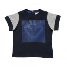 Armani Infants Eagle Print T-Shirt (Navy)