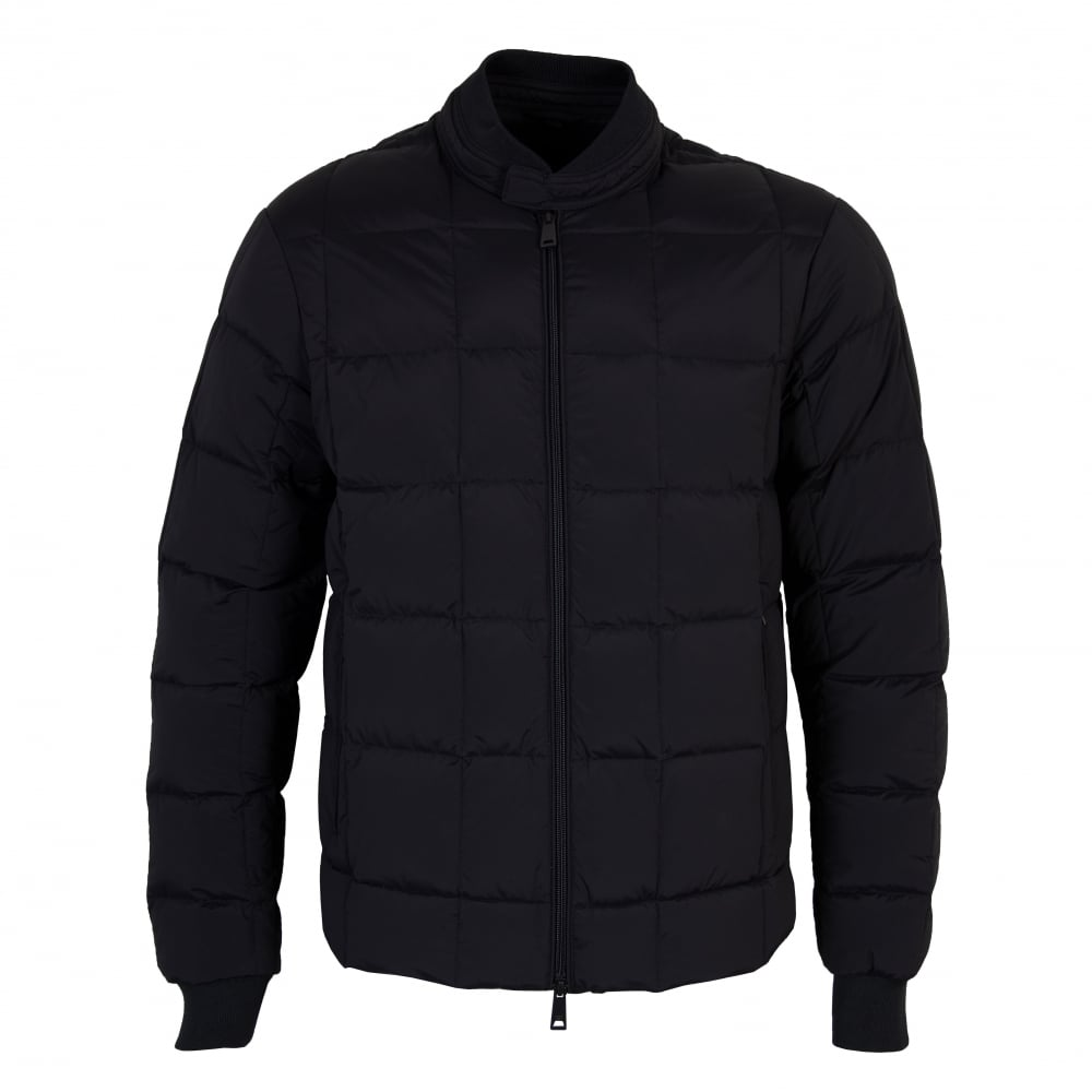 d363d22bb633 Armani Jeans Mens Quilted Down Jacket (Navy) - Mens from Loofes UK
