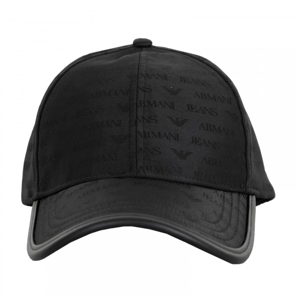 Armani Jeans Mens Self Colour Logo Cap (Black) - Mens from Loofes UK 16b6cc56871