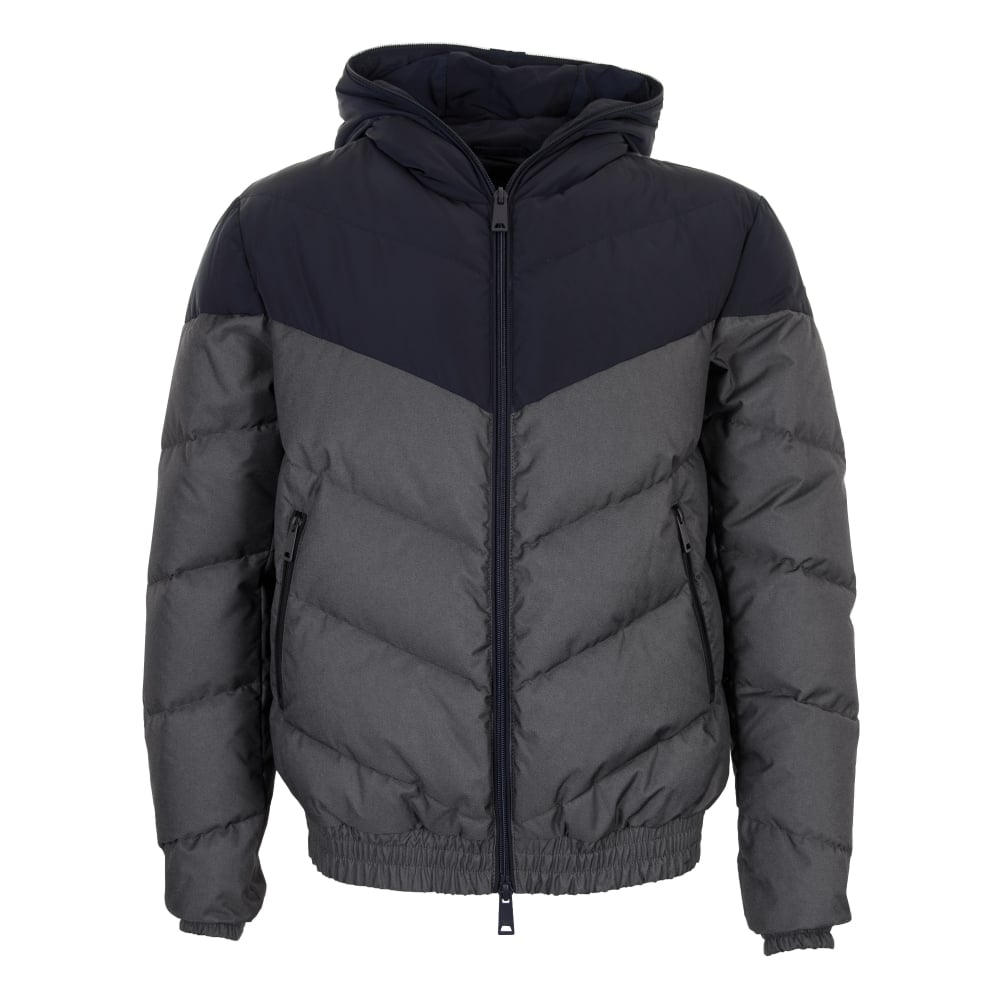 98ec52b754ba Armani Jeans Mens Two Tone Quilted Down Jacket (Blue) - Mens from ...