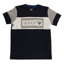 Armani Juniors Large Logo T-Shirt (Navy)