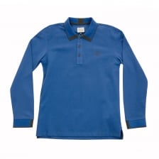 Armani Juniors Long Sleeve Polo Shirt (Blue)