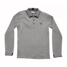 Armani Juniors Long Sleeve Polo Shirt (Grey)