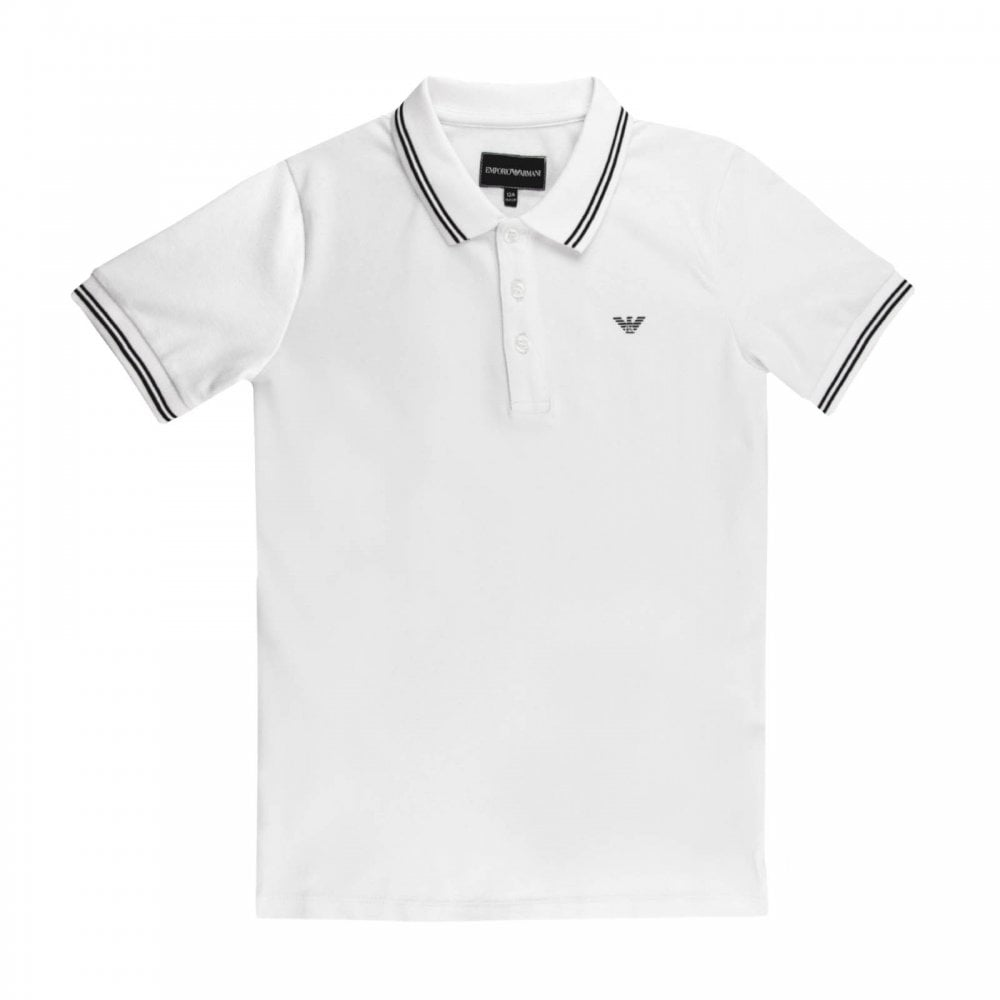 d2d72a082 Armani Juniors Polo Shirt (White) - Kids from Loofes UK