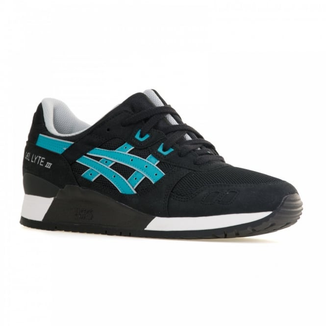 Asics Mens Gel Lyte 111 Trainers (Black/Atomic Blue)