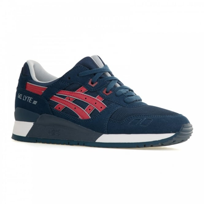 Asics Mens Gel Lyte 111 Trainers (Indian Ink/Tango Red)