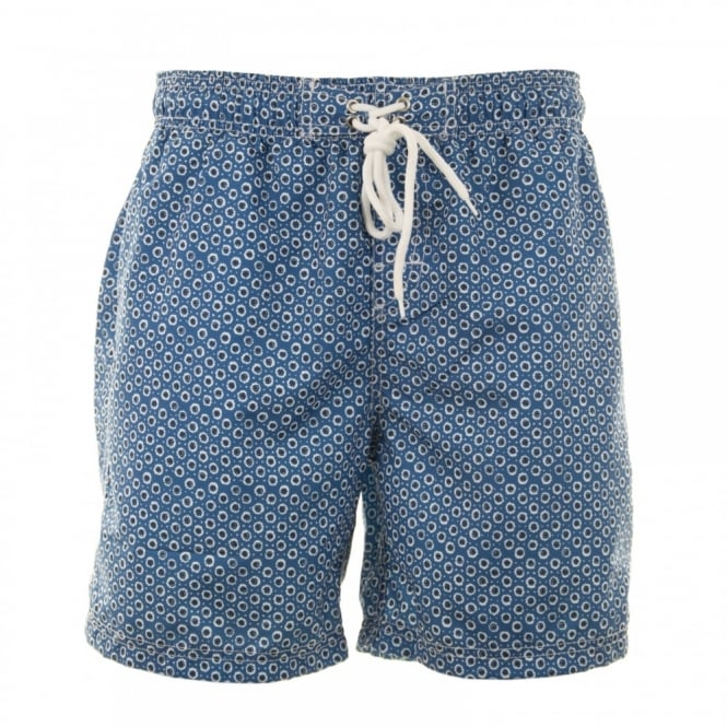 Baileys Mens Floral Print Swim Shorts (Blue)