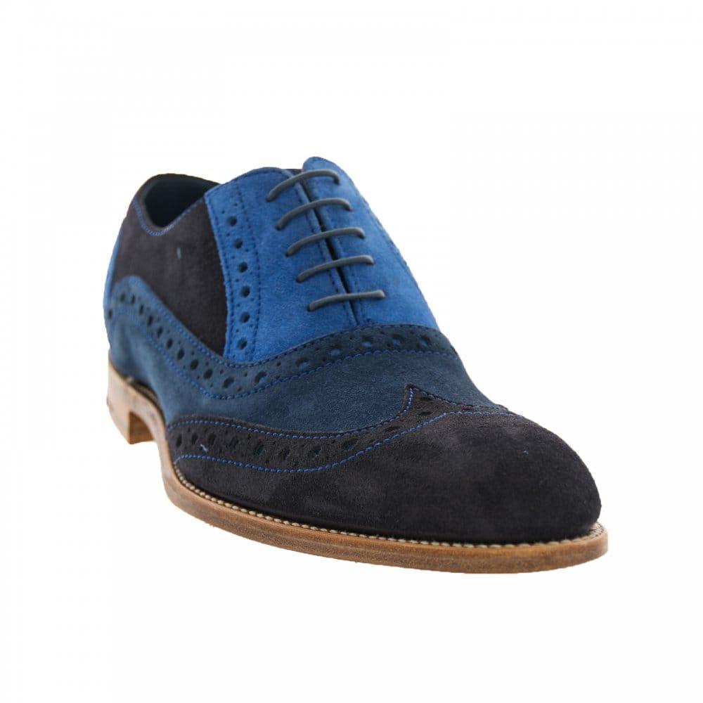 barker shoes mens grant brogue shoes blue boots