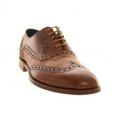 Barker Shoes Mens Grant Brogue Shoes (Tan)