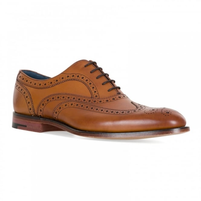 Barker Shoes Mens Jensen Full Brogue Shoes (Tan)