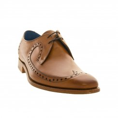 Barker Shoes Mens Woody Punch Hole Shoes (Tan)