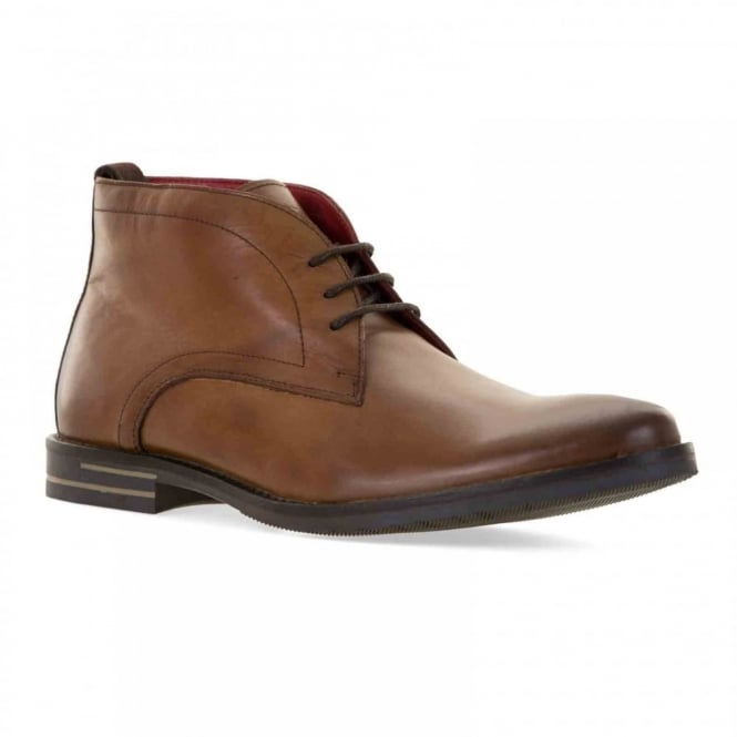 Base Mens Dore Leather Chukka Boots (Tan)