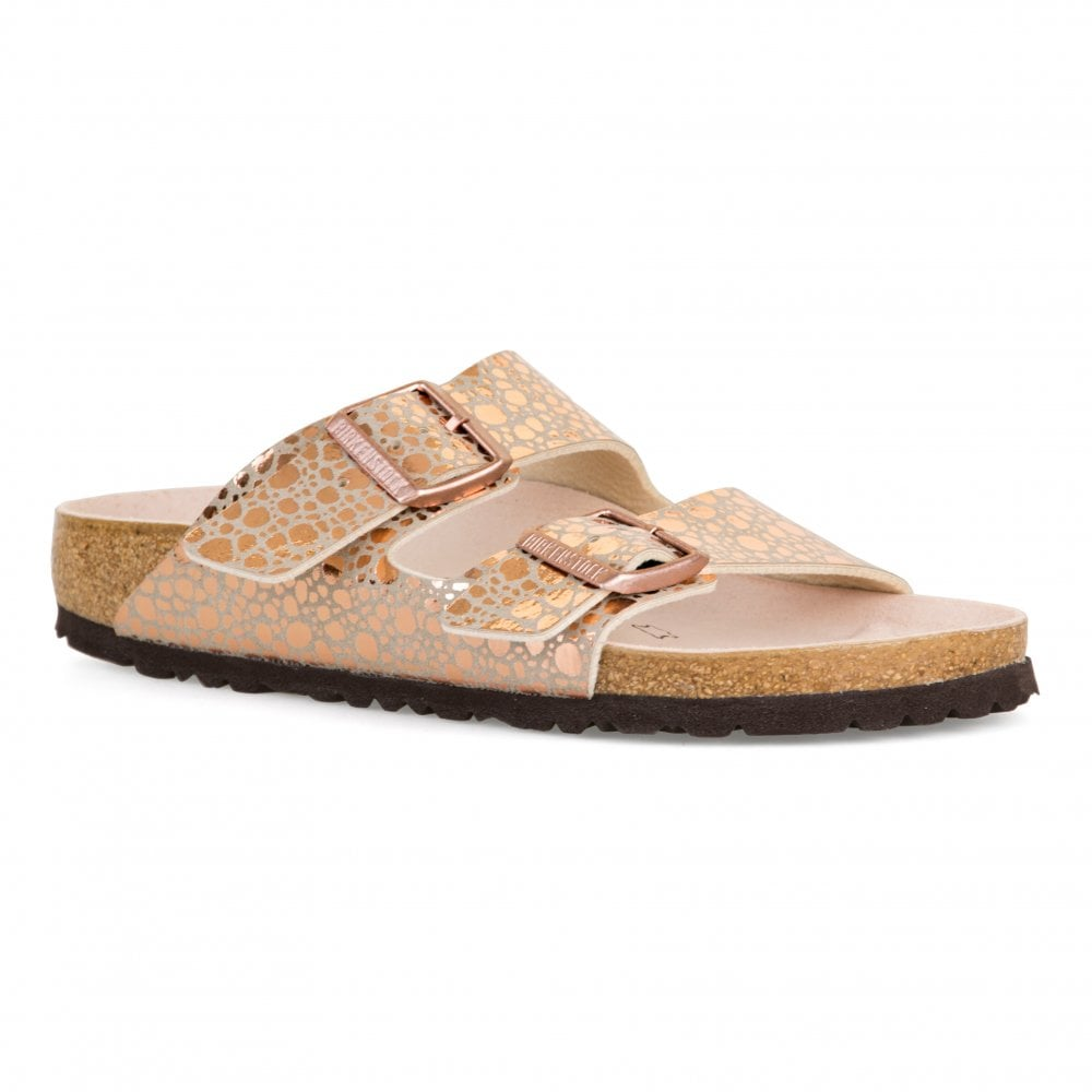 2745b95ea19e Birkenstock Womens Arizona BF Metallic Stones Sandals (Copper ...