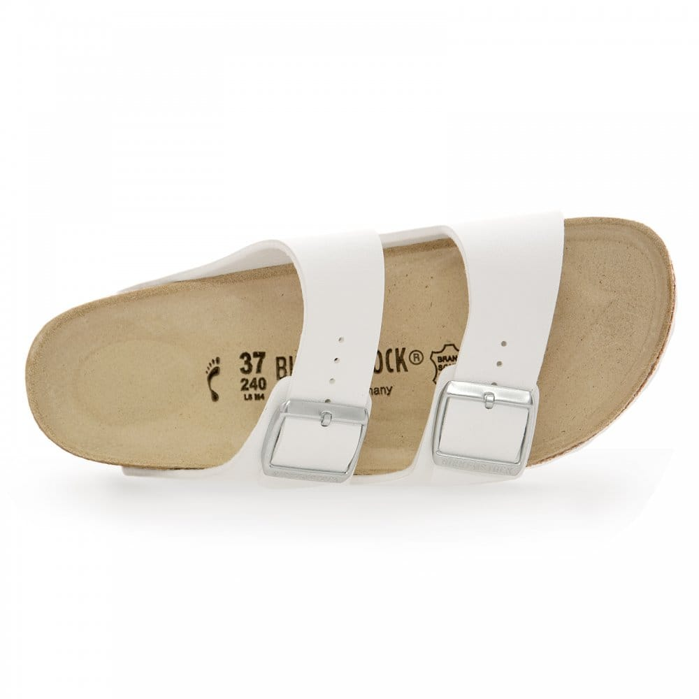 Simple Home Birkenstock Womens White Rio BirkoFlor Sandals