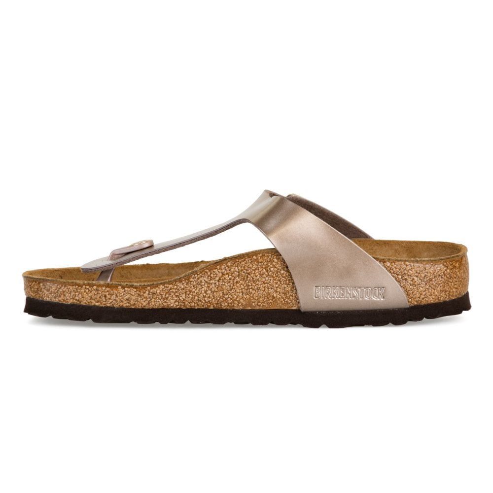 133a1633b0e4 Birkenstock Womens Gizeh Electric Metallic Sandals (Taupe) - Womens ...