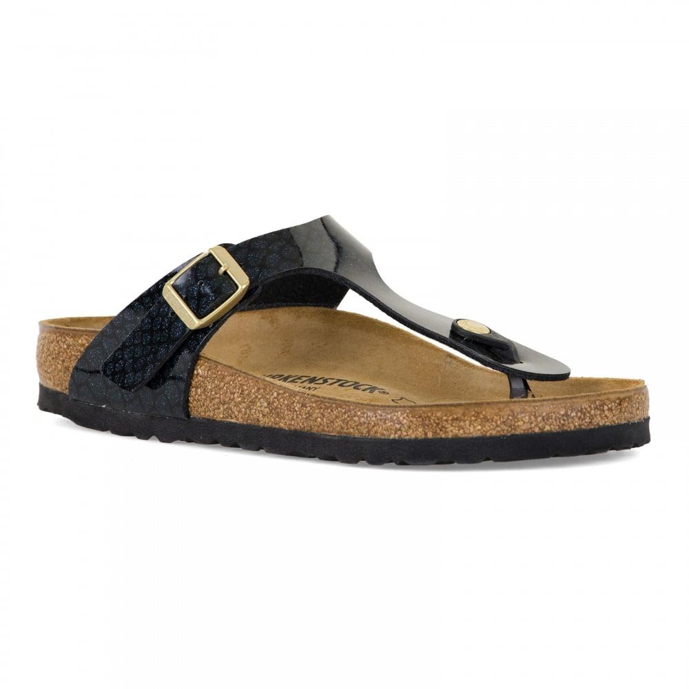 Birkenstock Womens Gizeh Magic Snake Sandals (Black) - Womens from ... 0689796b3d