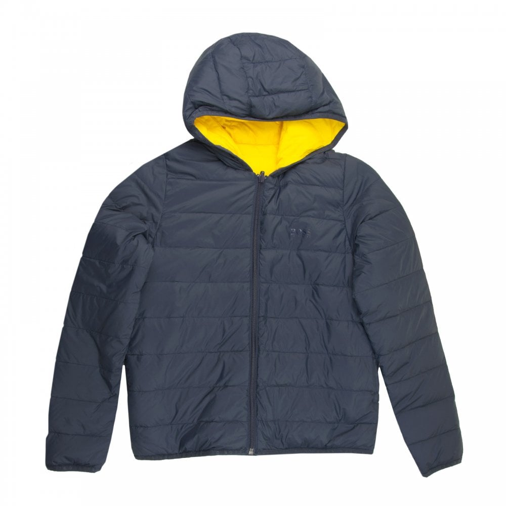 6ccc9da29fc Boss Juniors Reversible Puffer Jacket (Navy) - Kids from Loofes UK